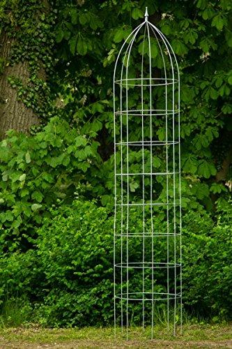 Rankgerüst Rankhilfe Jumbo Obelisk Ø: 60cm Verzinkt H: 300cm aus Metall