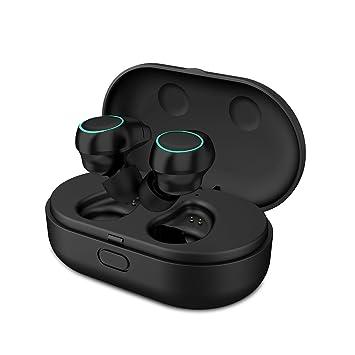 HolyHigh Auriculares Bluetooth Mini Twins Stereo Auriculares Inalambricos con Caja de Carga y Micrófono Integrado para