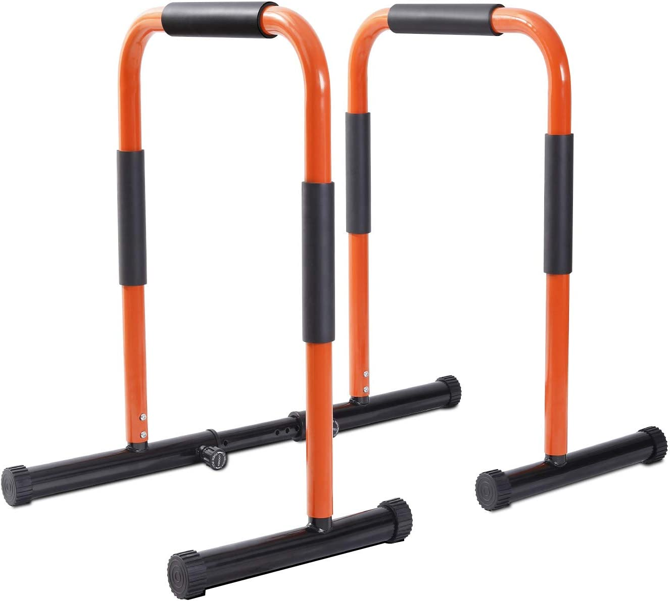 Zero Dip Station Dip Stands Dip Bar Parallette Push Up Stand with Connector Bar Orange