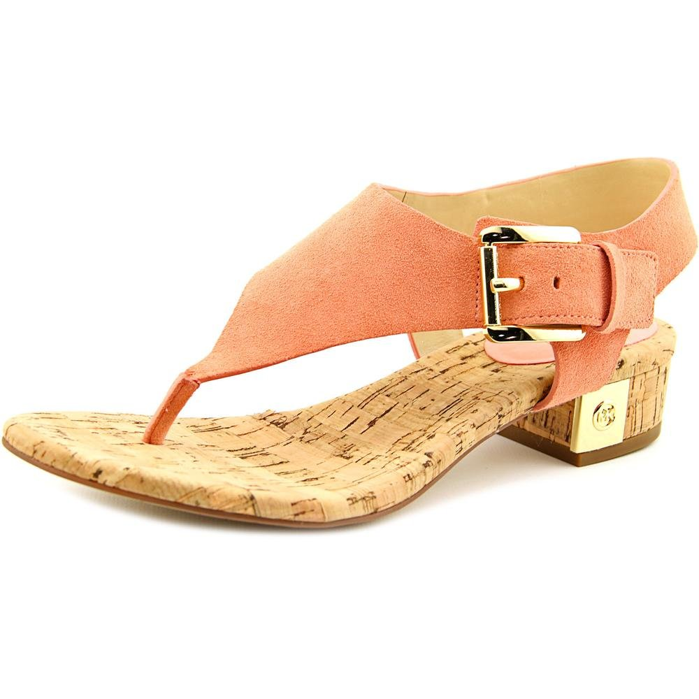 Michael Kors London Thong Peach Suede Leather T-Strap City Sandal Shoe Size 9.5 by Michael Kors