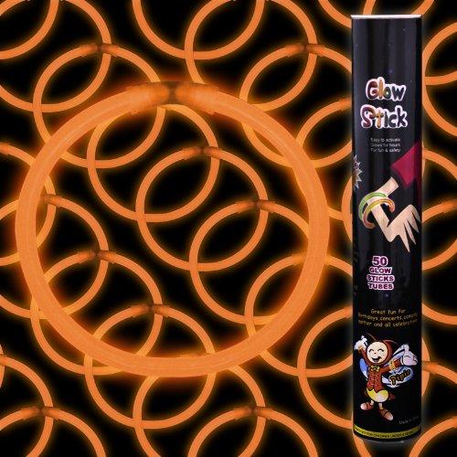 Fun Central P71  8 Inch Glow Stick Bracelets Orange Glowsticks - 50 (Orange Glow Stick)