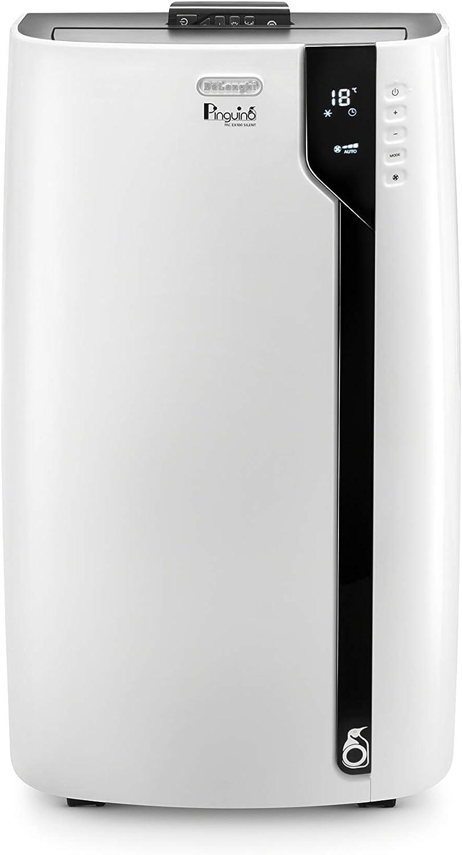 De'Longhi 3-in-1 Portable Air Conditioner, Dehumidifier & Fan + Remote Control & Wheels, 500 sq ft, Large Room, 6800 (DOE) / 12000 BTU (ASHRAE), White, PACEX270LN