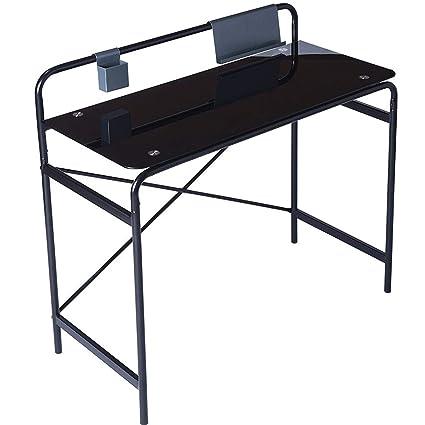 Amazon.com: Office Glass Computer Desk Study Laptop Desk Study Glass ...