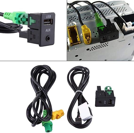 Elerose Usb Aux Kabel Auto 1 5m 59 Auto Usb Aux Schalterbuchse Mit Kabelbaum Kabel Adapter Für F07gt F10 F11 F18 E12 F13 F01 F02 F03 Auto