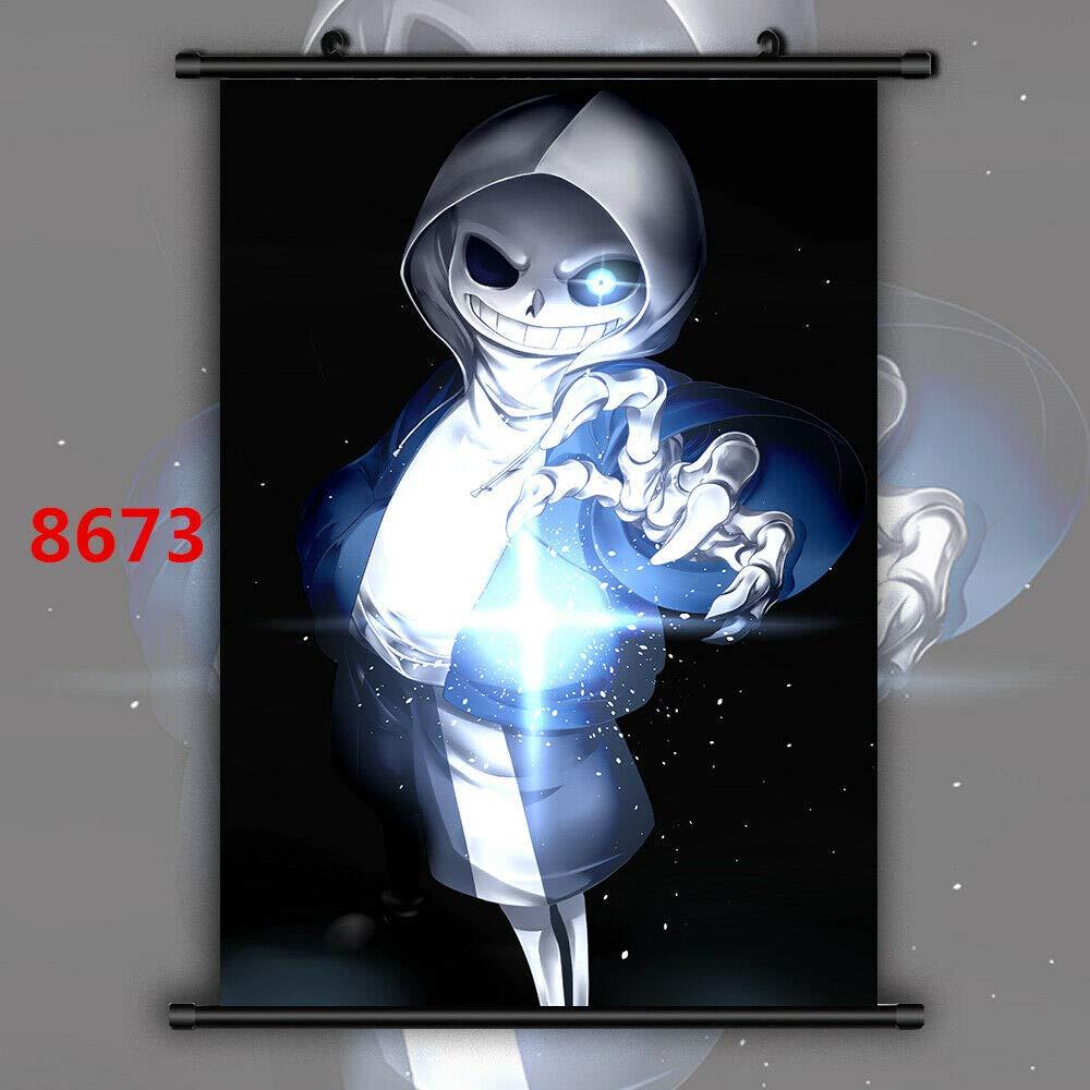 Undertale HD Print Anime Wall Poster Scroll Room Decor