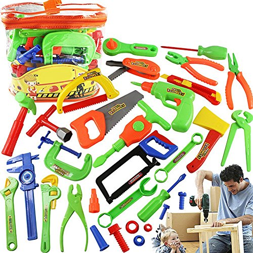 MAGIKON 32-Piece Repair Tools Pretend Play Toy Set , Comes with a Storage Bag