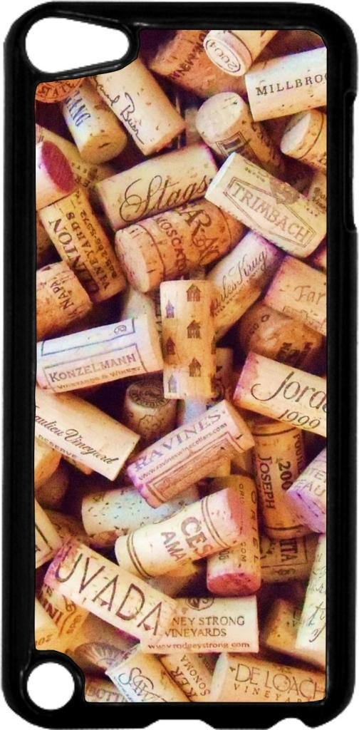 Wine Corks- Case for the Apple Ipod 5th Generation-Hard Black Plastic