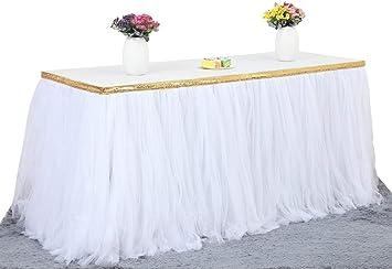 Falda de mesa hecha de tul para bodas, baby showers, fiestas de ...