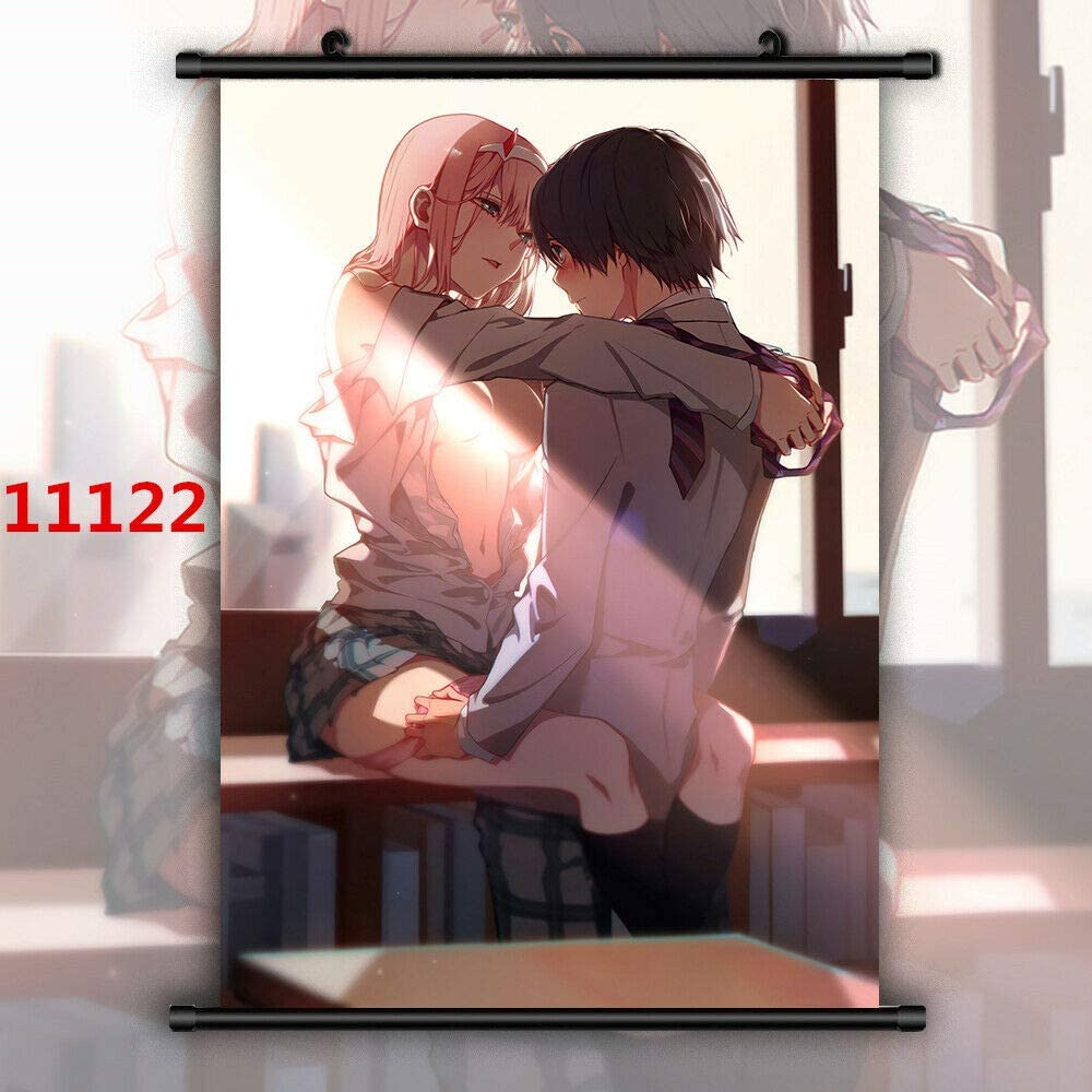 Darling in the FranXX Zero Two HD Print Wall Poster Scroll Room Decor
