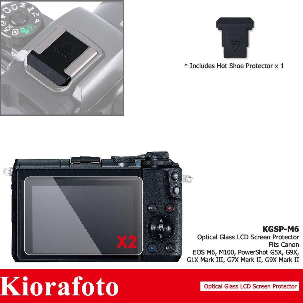 Kiorafoto 2Pack HD Optical Tempered Glass LCD Screen Protector + Sub-screen PET Film Protector for Canon EOS 5D Mark IV 5D Mark III 5D4 5D3 5DS 5DSR Camera Screen Protector with Hot Shoe Dustproof Cap Jinjiacheng Photography Equipment Co. Ltd