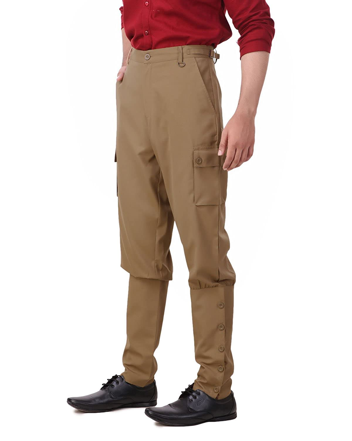 Vintage High Waisted Trousers, Sailor Pants, Jeans Steampunk Victorian Cosplay Costume Mens Airship Pants Trousers ThePirateDressing $59.95 AT vintagedancer.com