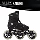 Black Knight Adjustable Inline Skate Package