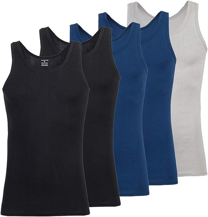 Men Lightweight Athletic Vest Fruit of the Loom Sleeveless cotton Tank Top S-5XL