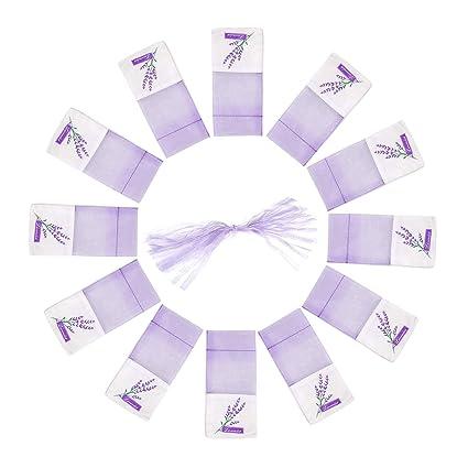 TooGet bolsita de patrón de lavanda bolsas vacías bolsas de algodón bolsas de gasa de organza 7 x 9 cm - 12 piezas