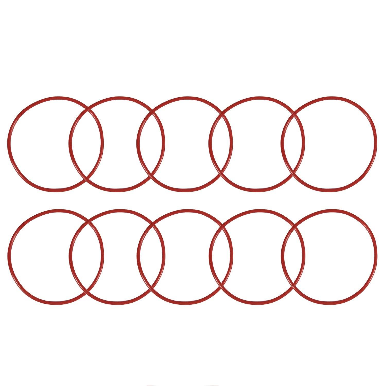 RETYLY 10 PCS Rot Silikon O Ring Oil Seals Dichtungen Unterlegscheiben 70 mm x 2,5 mm