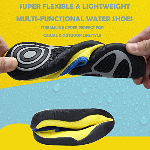 Women's Men Quick Lightweight Yellow Dry SIKELO and Water Sports Shoes txw6q