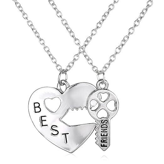 Amazon godyce best friends heart key pendant necklace godyce best friends heart key pendant necklace stainless steel jewelry aloadofball Image collections