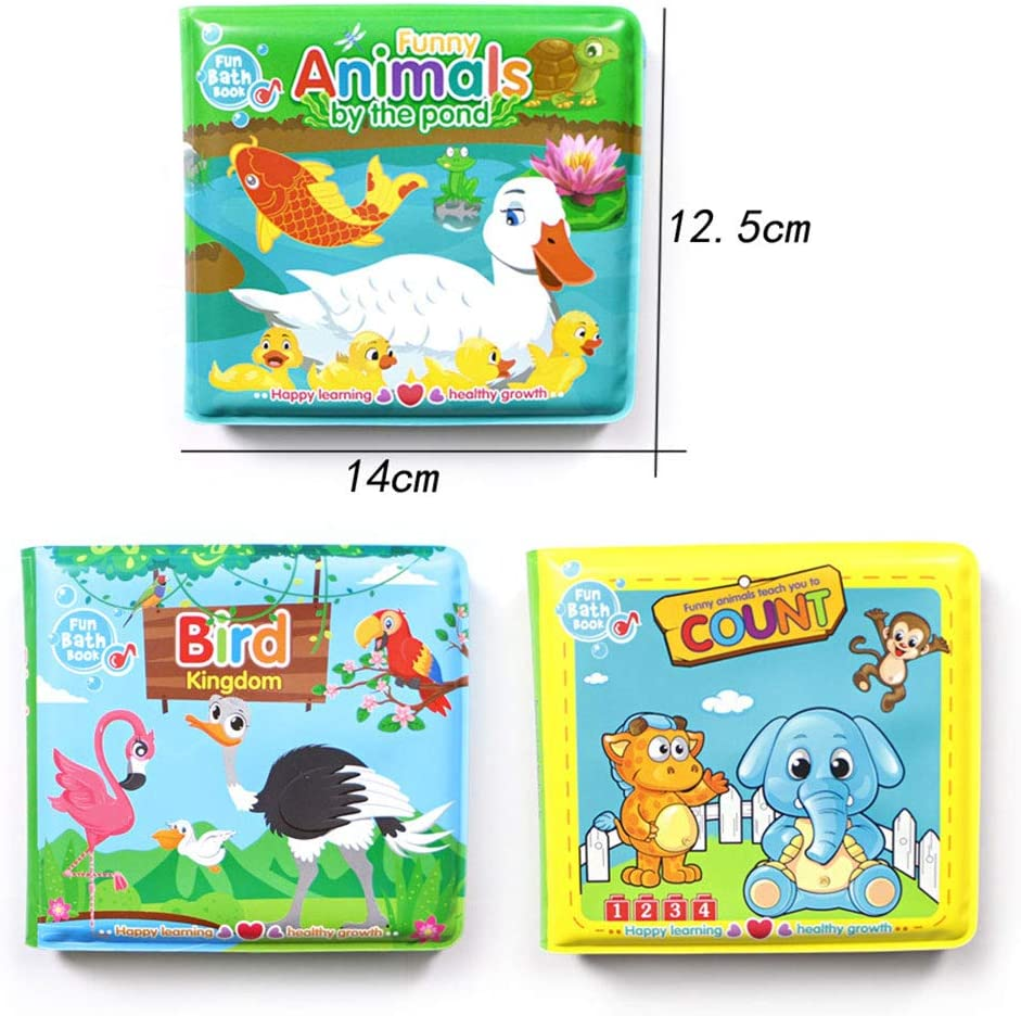 Animal Alphabet /& Numbers Non-Toxic Books Learning Bath Toys for Baby Toddler Early Educational-Animal Floating Baby Bath Books