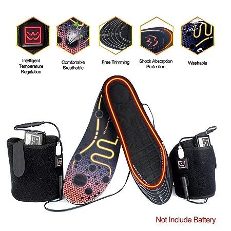 Lavabili Campeggio 36-46 Trekking AKQ Solette Riscaldate Scaldapiedi Elettrico USB Ricaricabile con 3 Livelli di Calore per Uomo Donna per Caccia