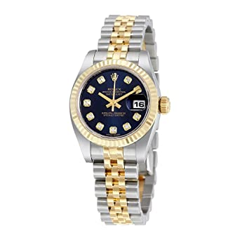 Amazon.com Rolex Lady Datejust 26 Blue Dial Stainless Steel