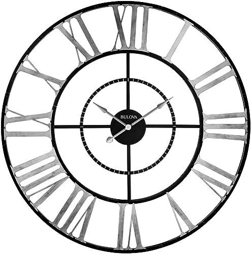 Bulova C4877 Zeeland Oversized Wall Clock