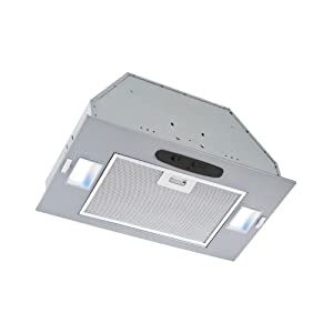 Broan-NutonePME300Powder-Coated Power Pack Range Hood Insert, Exhaust Fan and Light Combo for Over Kitchen Stove, ENERGY STAR Certified, Silver, 0.5 Son