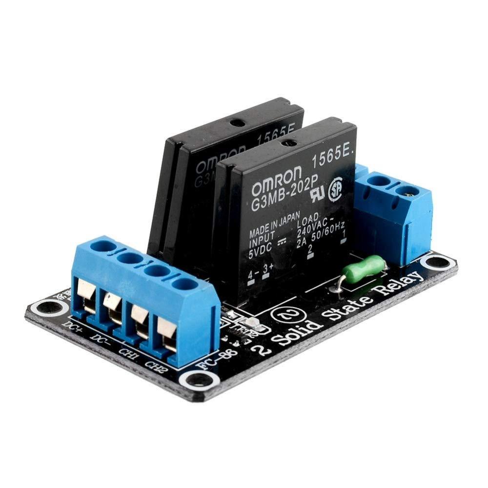 2 Kanal Solid State Relais Modul 5V//230VAC High Level Trigger