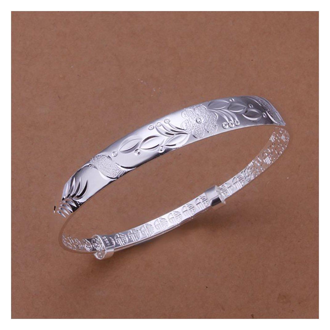 SIENNA693 Silver Plated Bangle Bracelets 925 Silver Jewelry Fashion Bangle Jewelry Gift for BFF SU709