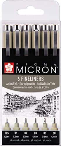 Pigma Micron 6 Fineliners