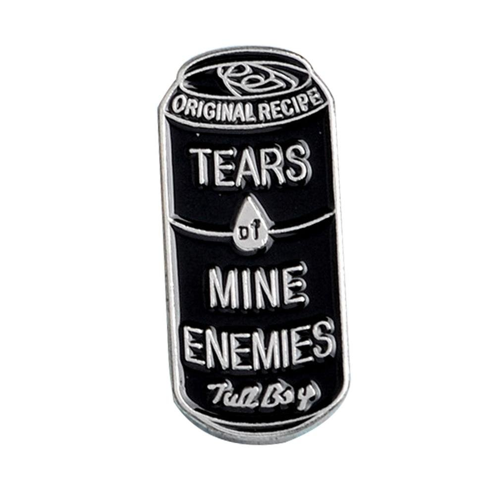 CALISTOUS Women Fashion Punk Hard Enamel Tears of Mine Enemies Pop-top Can Brooches for Party Friends