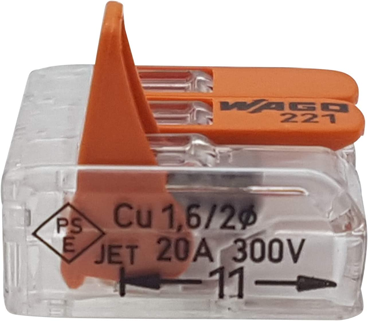 Wago 221 Connection Clamp with Lever Small Design Transparent