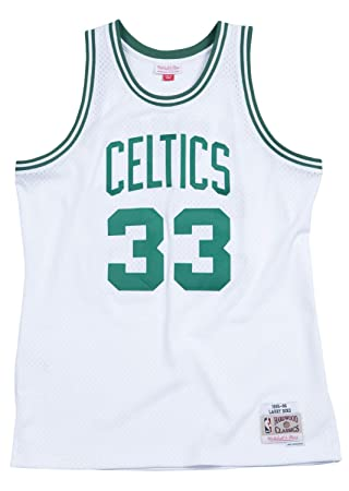 hot sale online 7bcc9 531bc Mitchell & Ness Boston Celtics Larry Bird White Swingman Jersey