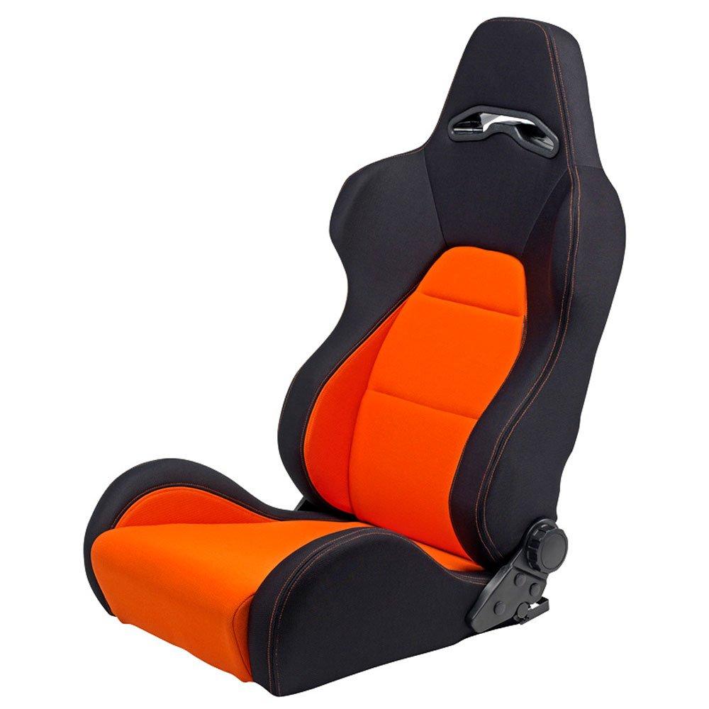 Autostyle SS 40A Siè ges Conducteur, Noir/Orange SS02 NEW MODEL