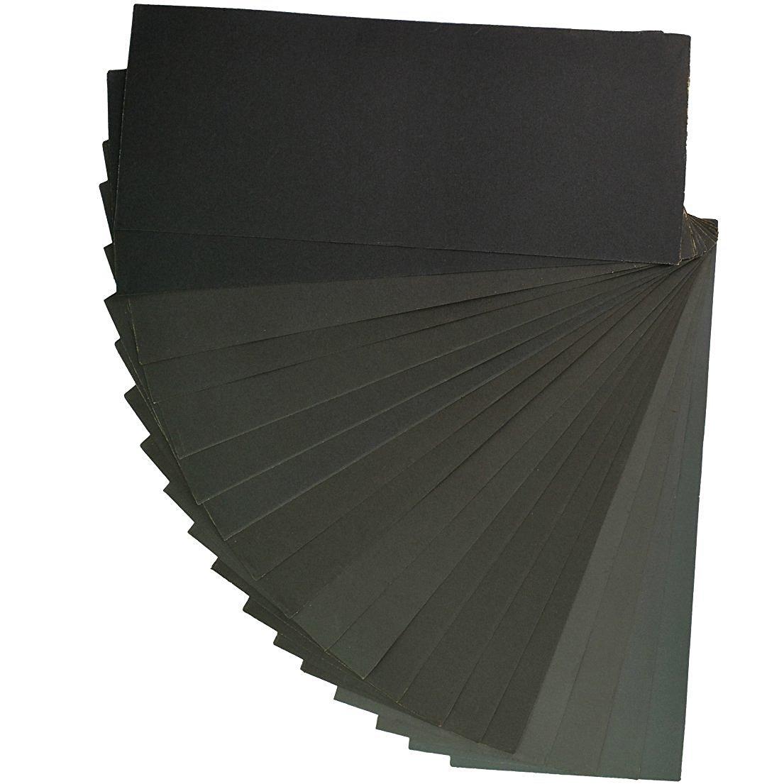 SUMERSHA 400-3000 Grit Schleifpapier Sortiment f/ür Automobil-Schleifen Holzm/öbel Veredelung Drehen Fertigung Holz 9 x 3,6 Zoll 18 St/ück