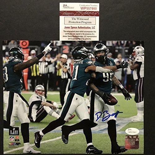 4a7103b401d Autographed/Signed Derek Barnett Philadelphia Eagles Super Bowl LII 52  Fumble Recovery vs Tom Brady