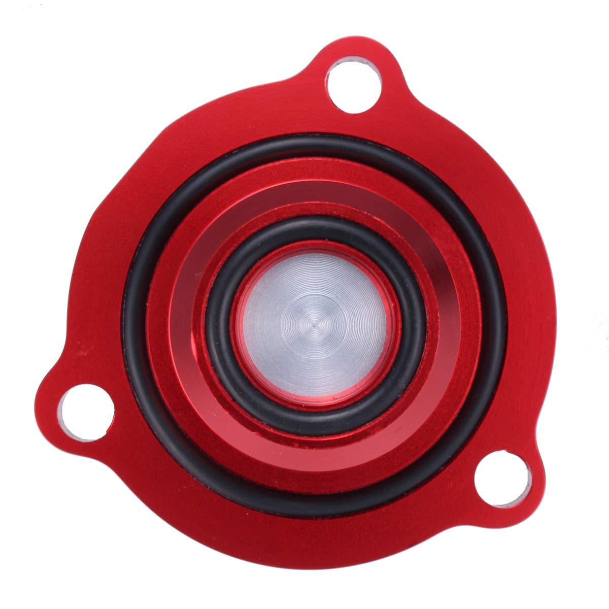 FeLiCia Rojo Aluminio Turbo Volcado De La Válvula para Vauxhall Opel Astra Mk4 Corsa Zafira: Amazon.es: Coche y moto