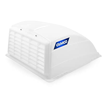 Camco RV Roof Vent Cover, Opens For Easy Cleaning, Aerodynamic Design, Easily Mounts to RV With Included Hardware - (White) (40431): Automotive