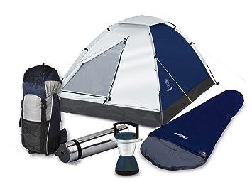 Wehncke - Set de utensilios para acampada (mochila, tienda, saco de dormir,