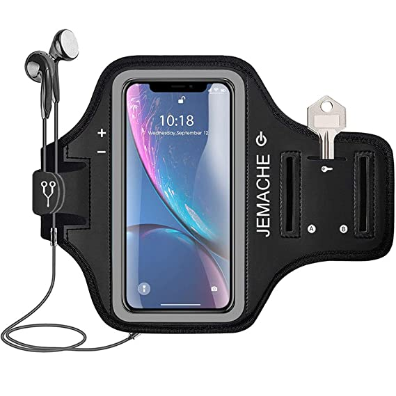 Amazon iphone xr armband jemache water resistant gym running