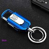 Mopoq Electric Windproof Lighter Key Ring Windproof Flameless Electronic Key Ring Bracket USB