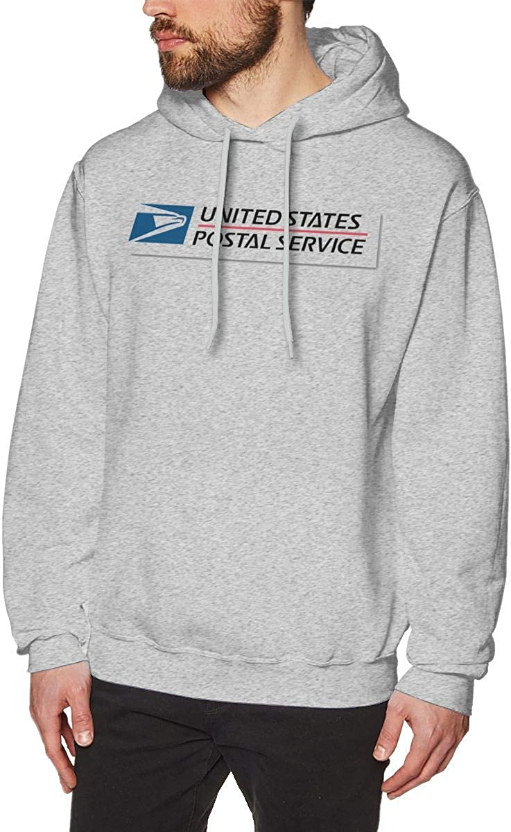 Mens United States Postal Services Long Sleeve Hooded Sweat Shirt Pullover