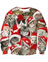 Unisex Funny Print Ugly Christmas Sweater Crewneck Various Design