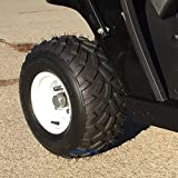 RHOX RXAL 18x8-8 All Terrain Golf Cart Tires and 8'' White Steel Golf Cart Wheels - Combo