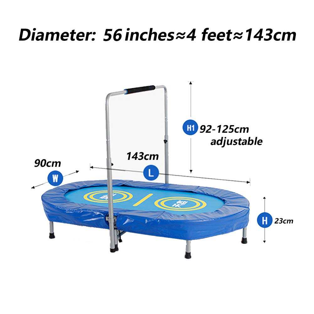 Trampolines With Armrests Toy Bouncing Bed 56 Inch Household Parent