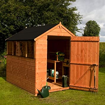 8 x 6 Walton Select Apex lengua y Groove gran puerta cobertizo de jardín