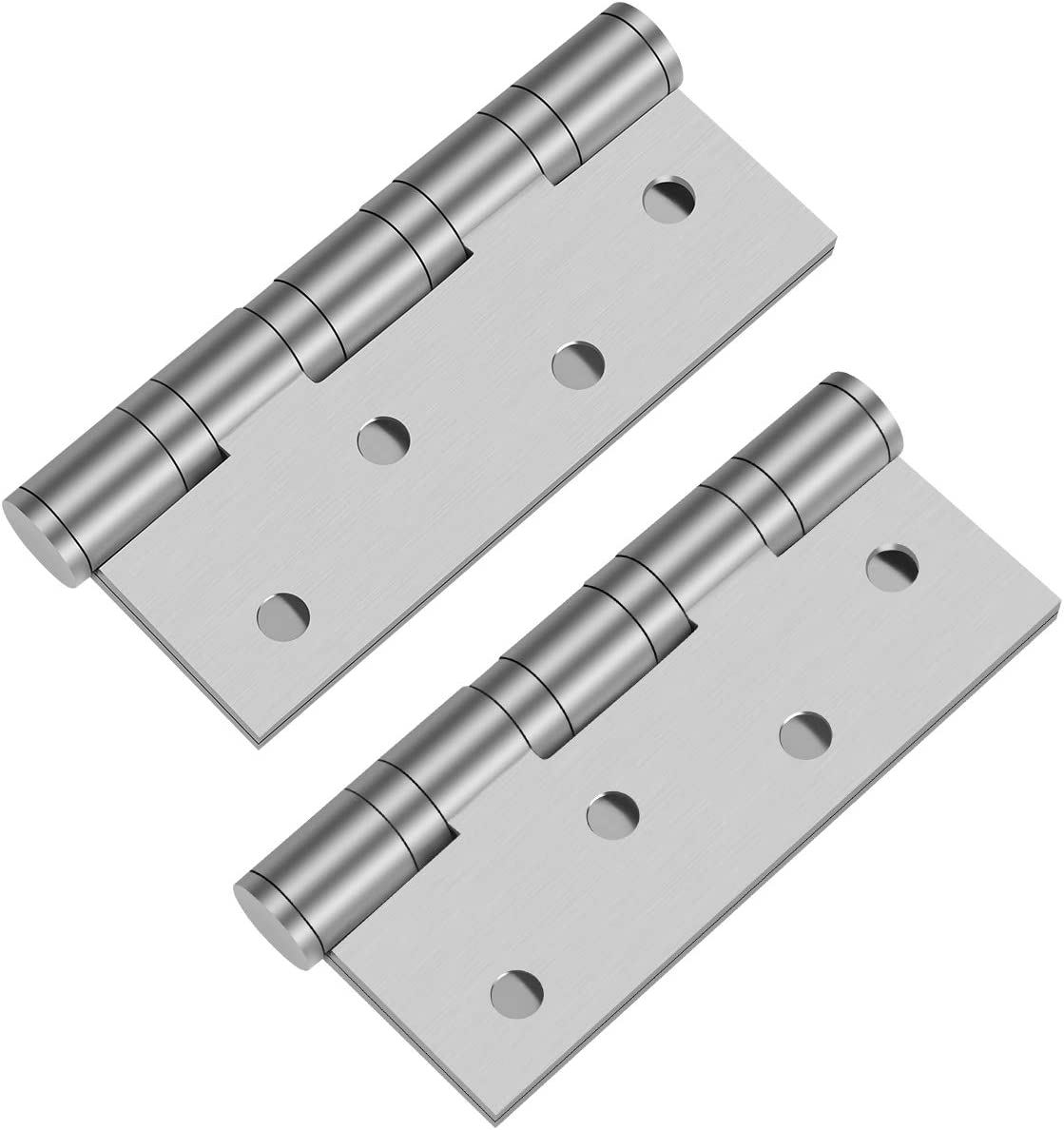 Brushed 304 Stainless Steel 4''x3'' Bearing Door Hinges with Square Corner Pack of 2-Silver