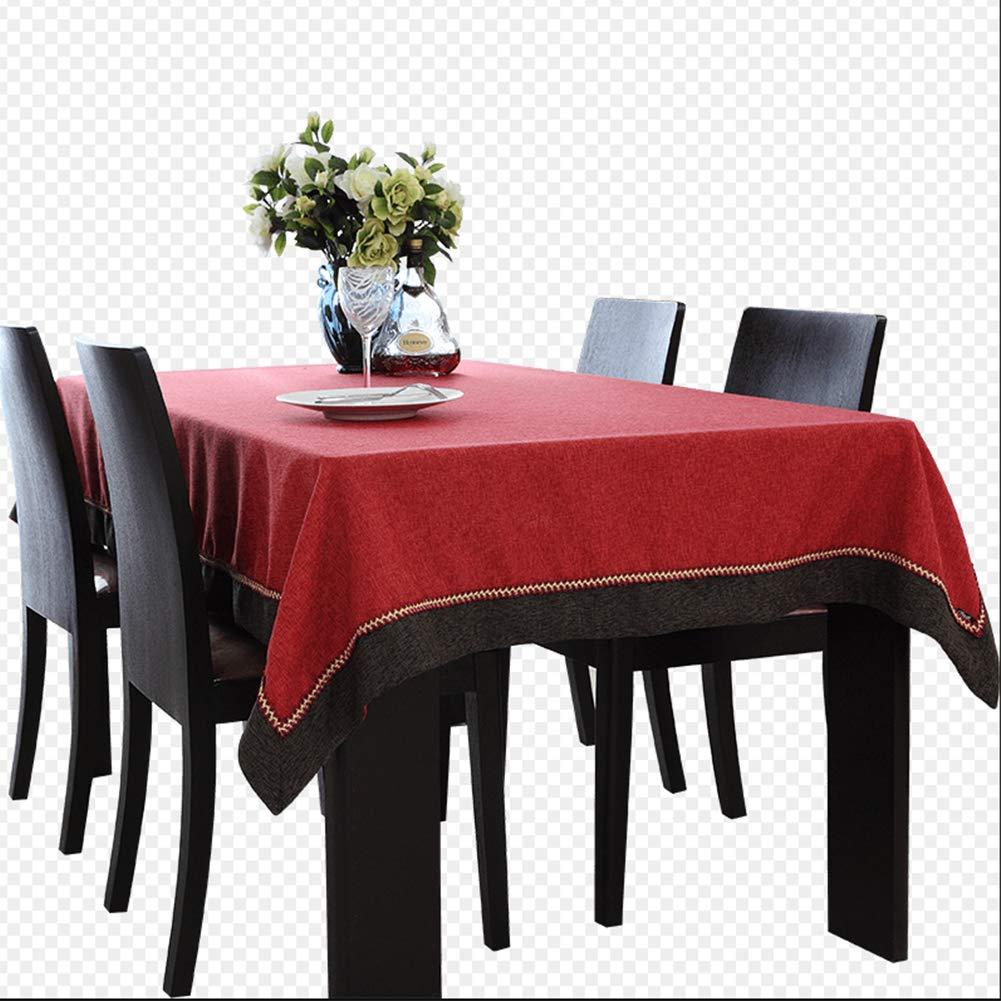 140160cm Rechteckige Tischdecke Des Roten Tischtuches Einfache Normallackhandwäsche,140  160Cm