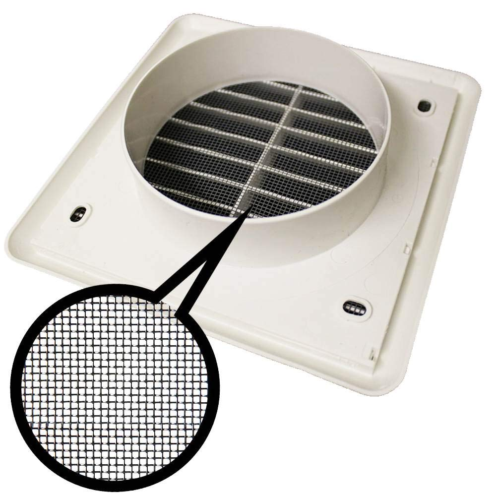 FLYSCREEN ROUND 100MM LOUVRED GRILLE