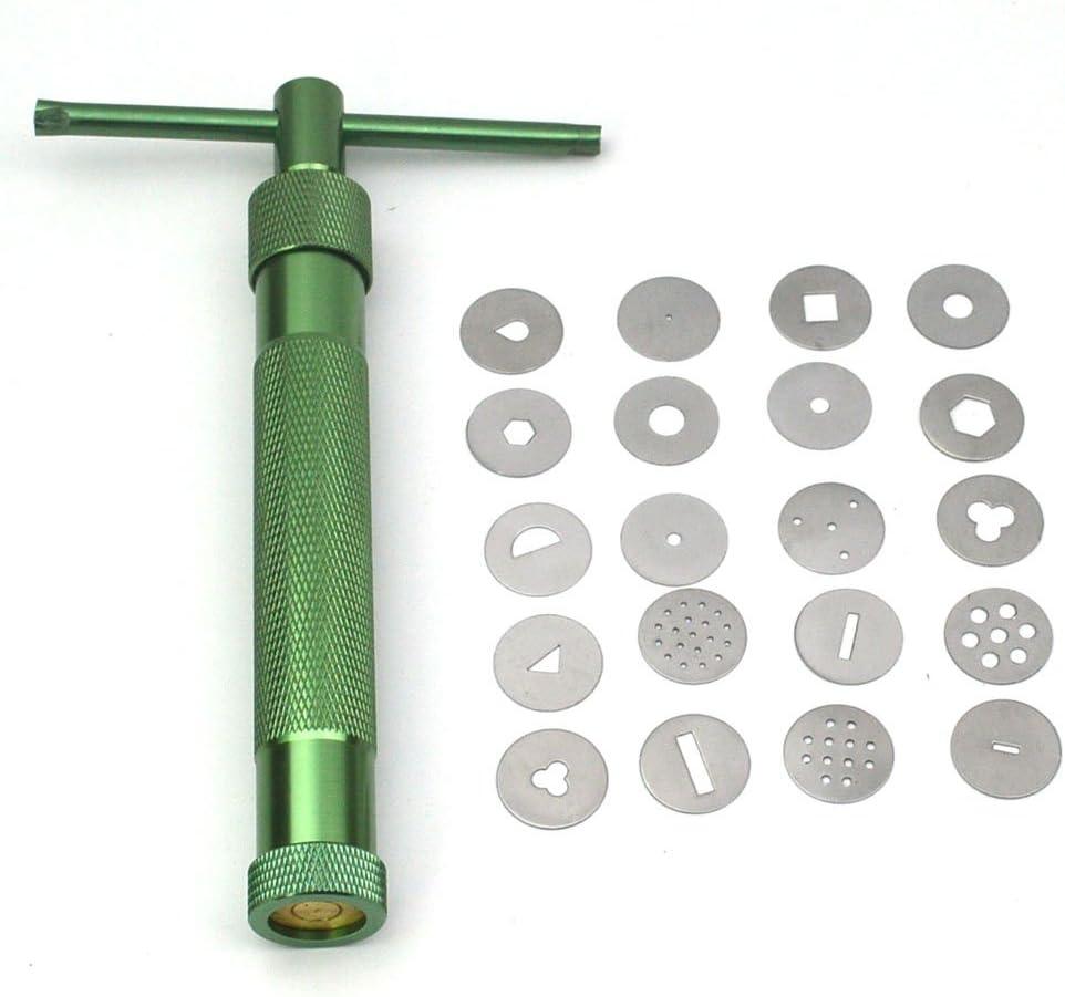 Polymer Clay Fimo Extruder Craft Gun Sculpting Tools 20 disc High Quality USA