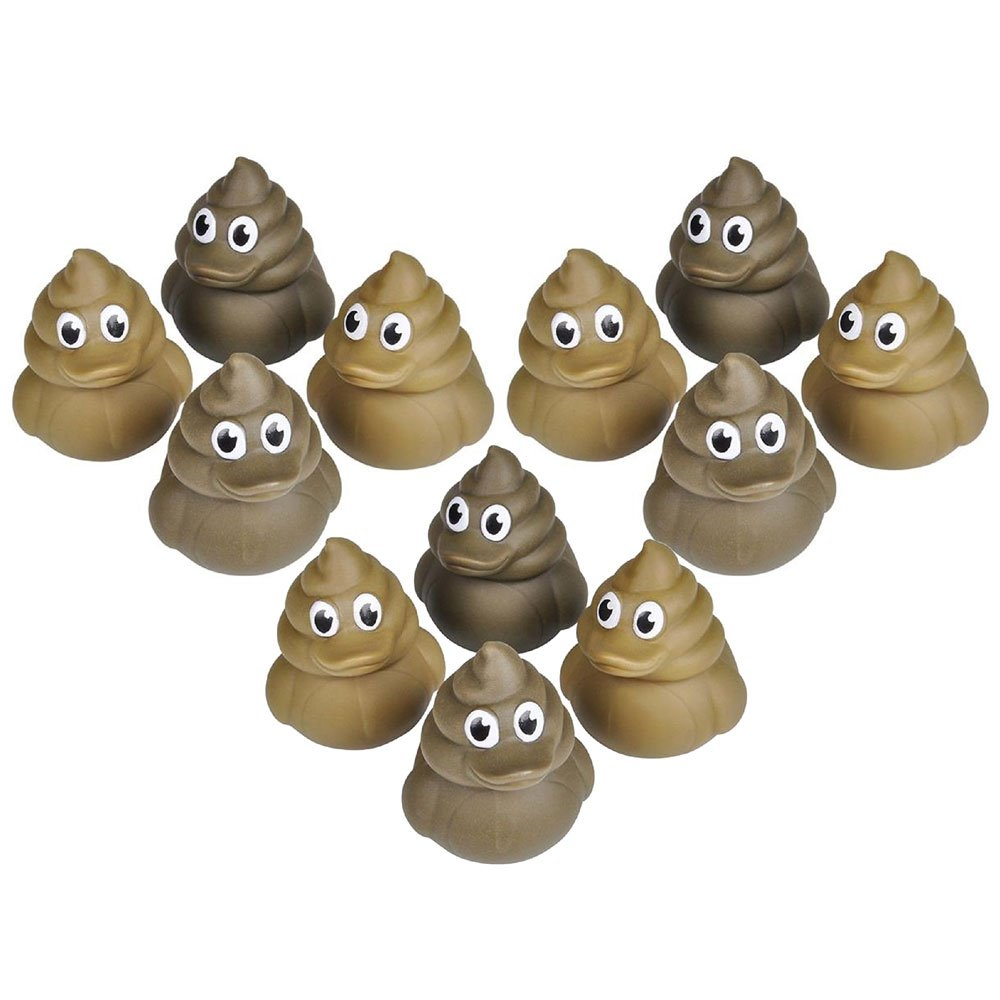 "12 Poop Rubber Duckies (2"" Ducks)"